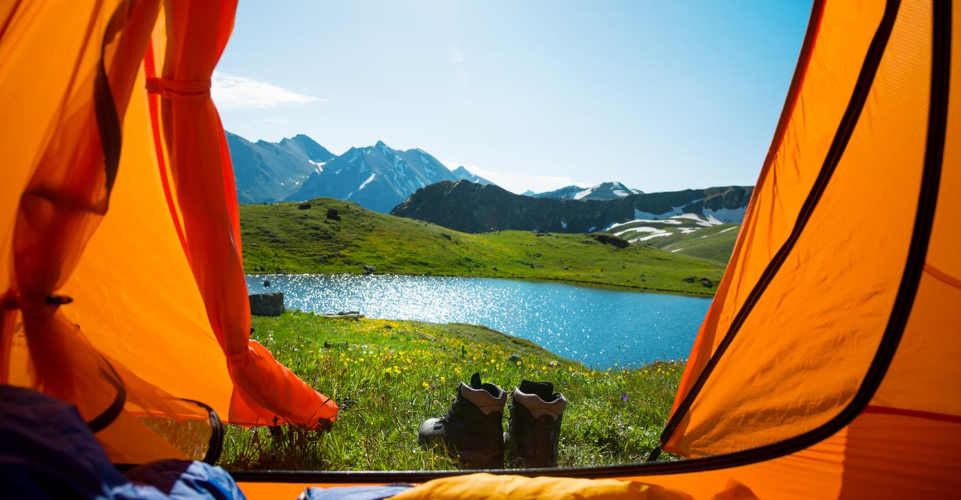 camping car vitrine sur la nature